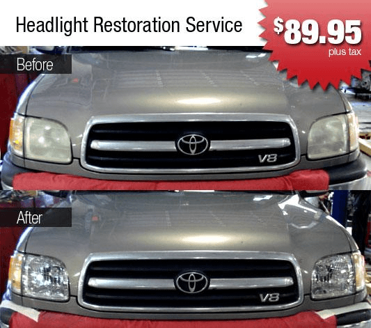 Headlight Restoration In Arlington Tx At Gp1 Collision Center Of